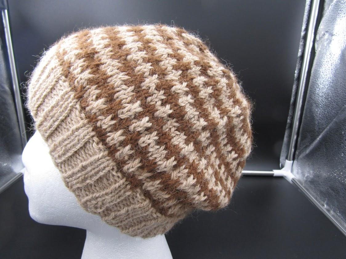 Brown Ringed Hat