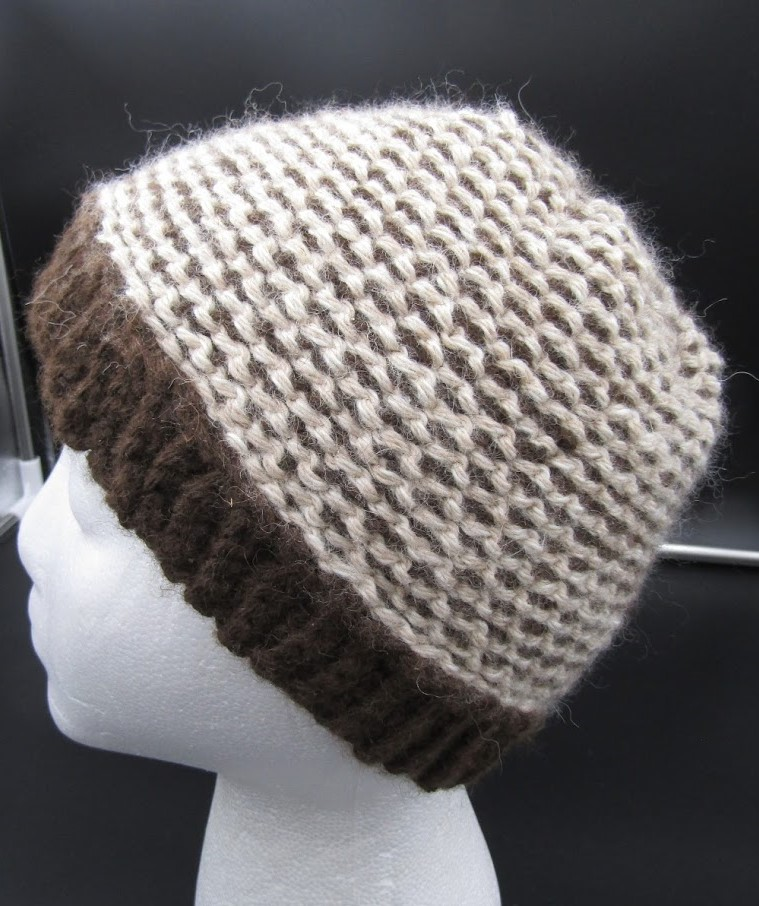 Brown/Cream Laced Hat