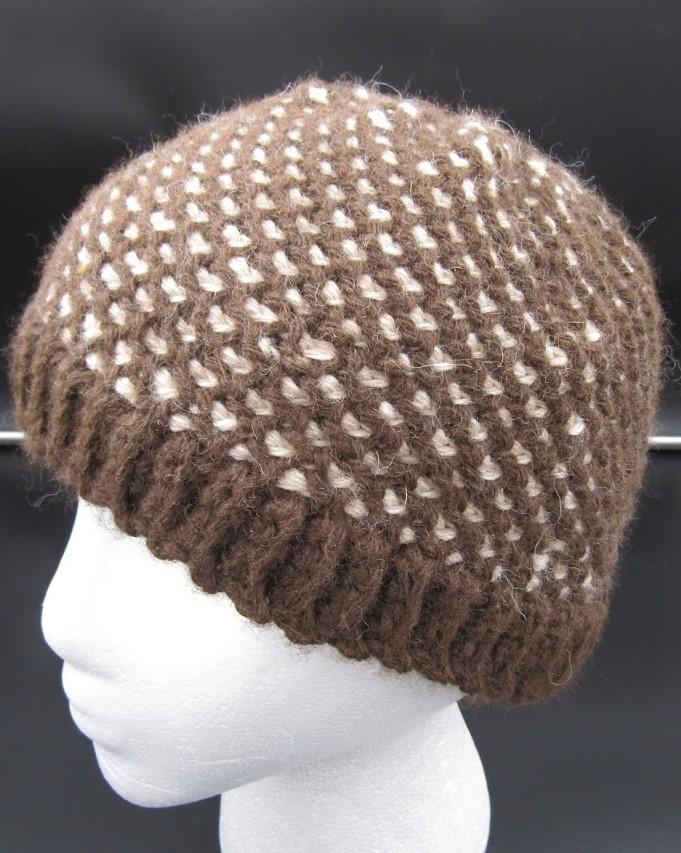 Brown/Cream Under Laced Hat