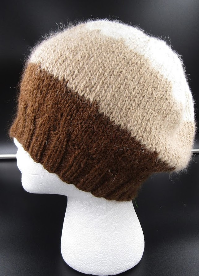 Alpaca Brown/Cream Band Cap